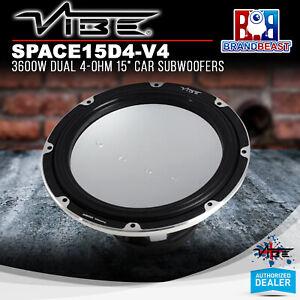 "Vibe SPACE15D4-V4 1200W Dual 4-Ohm 15"" Car Subwoofers"