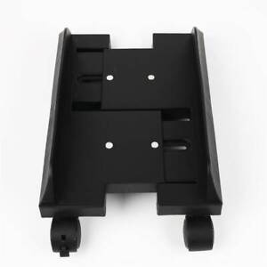 PC Computer Tower Stand CPU Cart Holder With 4 Caster Rolling Wheel Mobile Black