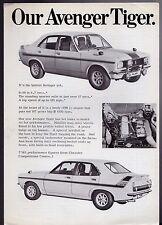 Hillman Avenger Tiger Limited Edition 1972 UK Market Foldout Sales Brochure