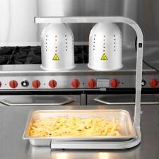 Restaurant Aluminum Heat Lamp Food Warmer 2 Bulb Free Standing Buffet Commercial