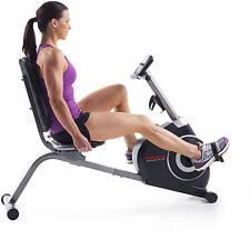 Cardio Recumbent Bike Stationary Workout Bicycle Aerobic Training Home Gym Cycle