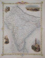 BRITISH INDIA BY JOHN TALLIS 1850.
