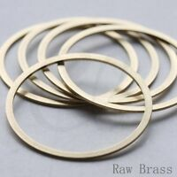 10 Pieces Raw Base Flat CLOSED Ring - Link - Loop 40x2mm (CW-3604C-V-243)