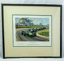 Winning Combination Racing Print By Alan Fearnley, Keith Duckwort signed 70/850