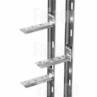 WALL STARTER RAIL - 41 x 1200mm - STAINLESS SCREWS & WASHERS - PLUGS & WALL TIES