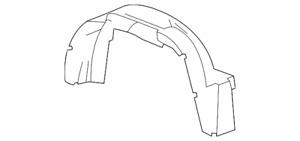 Genuine Wheelhouse Liner 25894547