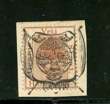 Orange River Colony #P2 (OR883) on piece O/P on half penny, U, FVF