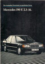 Mercedes-Benz 190E 2.3-16 Cosworth 1984-85 German Market Sales Brochure