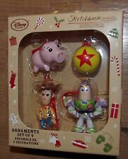 Disney Store Toy Story Christmas Tree decorations set of 4 Woody Buzz Hamm ball
