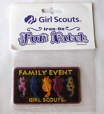 GSUSA Girl Scout FAMILY EVENT FUN PATCH Troop Party Tea Dance Badge NEW Iron-On