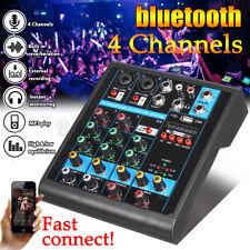 4 Channel Digital USB bluetooth Mixer Audio Sound Studio Mixing Console Karaoke