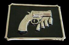 REVOLVER GUN BULLETS POLICE COOL BELT BUCKLES BOUCLE DE CEINTURE