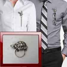 Tortoise R132 Pewter Pin Brooch Drop Hoop Holder For Glasses,Pen,Jewellery