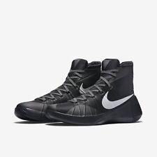 Nuevos Zapatos de baloncesto Nike Hombre Hyperdunk Negro Metálico Plata Zapatillas UK 7