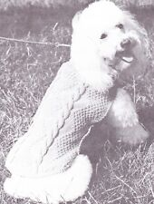 POODLE COAT / ARAN - length 37cm   -  COPY dog coat knitting pattern