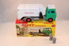 Dinky Toys 978 Bedford Refuse Wagon truck RARE BLUE interior mint in box Superb