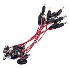 10x T 9V Batterie Kabel Stecker Batterieclip Clip Jack Stecker für Arduino DIY