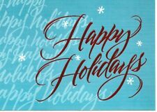 """16 New """"Happy Holiday"""" Greeting Cards"""" With Only 8 Envelopes Christmas"""