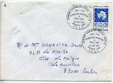 T.A.A.F. / TERRES AUSTRALES SEUL SUR LETTRE N° 91 TERRE ADELIE / TOULON 1981