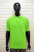 RALPH LAUREN Maglia Taglia XL Polo Manica Corta Shirt Cotone Verde Hemd Camisa