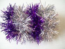4X gomas para el pelo Oropel púrpura X2 X 2 Silver