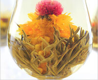 10 Blooming Flower Flowering Jasmine Green Chinese Tea Ball Handmade In Bag FE