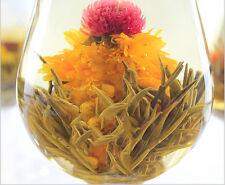 10 Blooming Flower Flowering Jasmine Green Chinese Tea Ball Handmade In Bag FO