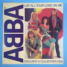 """ABBA - Lay All Your Love On Me 1980 Exclusive 12"""" Collector's Item Vinyl Record"""