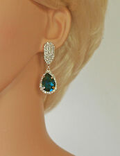 Glamorosa, Colgantes, Rhinestone & Diamante pendientes (s1229 Teal)