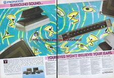 Pioneer Surround Sound 1987 Magazine 2 Page Advert #2639