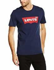 Levi's estampada adaptable cuello camiseta (azul Marino) Large