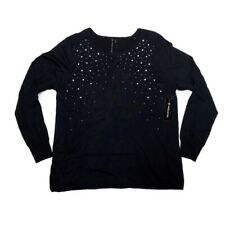 NWT XL Allie & Rob Sweater Black Gemstones