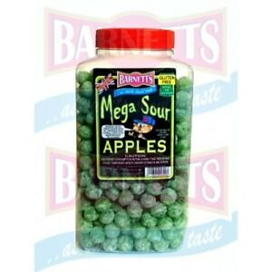BARNETTS APPLES MEGA SOURS, BRITISH SWEETS, UK SWEETS, REALLY SOUR!!!