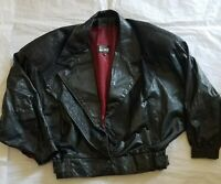 Comint womens vintage formal Leather black  jacket