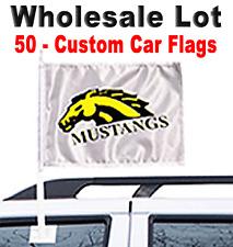 Wholesale Lot -50 Custom Car Flags - School - Youth Team - Organization