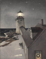 Wyeth Andrew Snowy Morning Canvas 16 x 20     #4279