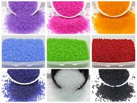 5000 Frosted Glass Seed Beads 2mm (10/0) + Storage Box Colour Choice Jewelry Mak