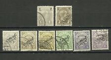 Luxemburgo, Porto, lote de 8 sellos usados