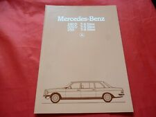 MERCEDES W123 Limousinen 240 D 300 D 250 7-8 Sitze Prospekt Brochure von 1981