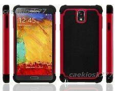 For Samsung Galaxy Note III 3 black red soft hard case 3 layer heavy duty work