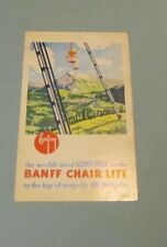Vintage Banff Chair Lift Mt. Norquay Canada Travel Brochure with Mountain Map