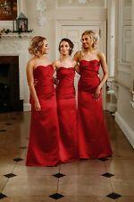 23f6afb718b Satin Bridesmaid Dress Wedding Ballgown Evening Prom Formal Floor length