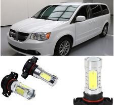 1Set White 7.5W LED COB Bulb Car Fog/Driving Light for Dodge Grand Caravan 10-17