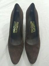 Salvatore Ferragamo Womens Brown High Heel Shoes 8.5 2A