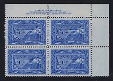 Canada Sc #302 (1951) $1 Fishing Resources UR Plate Block Mint VF NH