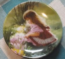 """Donald Zolan Miniature Plate - Colors of Spring (""""Childhood Discoveries"""" series)"""