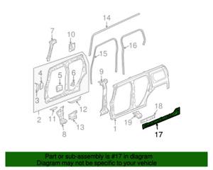 NOS 2006-2010 Hummer Left Driver Inner Side Rocker Panel 25790835