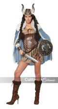 VIKING VIXEN Large Costume Medieval Barbarian Warrior Women Halloween Cosplay