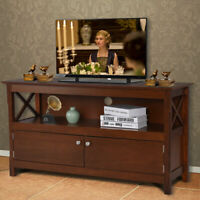 "44"" TV Stand Console Wooden Storage Cabinet Shelf Media Center Television Stand"