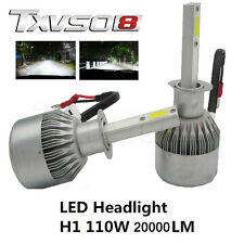 H1 COB CREE LED 110W 20000LM phare de voiture Kit 6000K Lampes Globes Ampoules